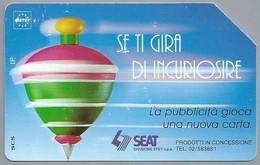 IT.- SIP. TELECOM ITALIA. CARTA TELEFONICA. LIRE 10.000. Se Ti Gira Di Incuriosire. SEAT. . 2 Scans - Italië