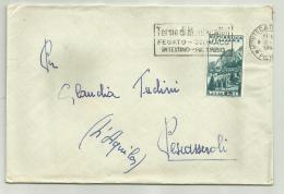 REPUBBLICA LIRE 25 - CORTINA D'AMPEZZO   ANNO 1951   SU BUSTA - 6. 1946-.. Republik