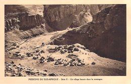 MISSIONS DU SUD-AFRIQUE Un Village Basuto Dans La Montagne  (MISSION Religion BASUTOLAND ) Série II* PRIX FIXE - Missions
