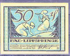 BAD-LIPPSPRINGE - 50 PFENNIGE - 1921 - [11] Emissions Locales