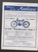 Moto Prospectus MOTOBECANE Type Y   (PPP6490) - Publicités