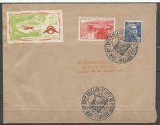 EXPO INTERNATIONALE DE LA POSTE AERIENNE NICE 1947 - Brieven