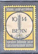 EXPOSITION NATIONALE SUISSE - BERN 1914 - Erinnophilie