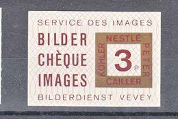 SERVICE DES IMAGES - BILDER CHEQUE IMAGES - 3P - VEVEY - Erinnophilie
