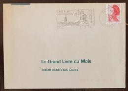 FRANCE Vigne Et Vin, Flamme Commemorative CAUX En LANGUEDOC Ses Vins De Pays De Caux 1986 - Vins & Alcools