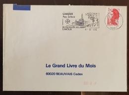FRANCE Vigne Et Vin, Flamme Commemorative Illustrée LIMOUX Pays Cathare Sa Blanqette, Son Nougat 1986 - Vins & Alcools