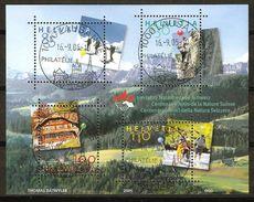 Zu 1168-1171 / Mi 1937-1940 100 Ans AMIS DE LA NATURE Obl. Centrales LAUSANNE 16.9.05 LP - Switzerland