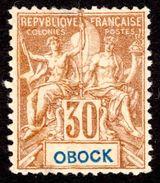 Obock - 1892  -  Type Sage  - N° 40 - Neuf (*) - Sans Gomme - Obock (1892-1899)