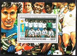 Rep. Central African   -   1981.  Francia Team. BF MNH Rare - Copa Mundial