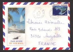 6947- Polynesie , French Polynesia, French Colonies,  Yvert 187 On Letter To France - Airmail