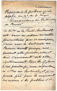 VP11.757 - Noblesse - LAS - Lettre De Mr Le Marquis D'ESTAMPES à PARIS - Autographs