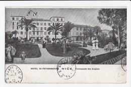 CPA 06 NICE Hotel St Petersbourg Promenade Des Anglais - Cafés, Hotels, Restaurants