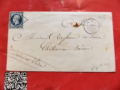 10.12.17_n°10 Sur Lettre De Rouen De Fev 54,belle Nuance - Postmark Collection (Covers)