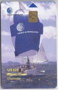BRITISH VIRGIN ISLANDS - SAILING SHIP - BLACK CHIP - Virgin Islands