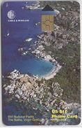 BRITISH VIRGIN ISLANDS - THE BATHS - RED CHIP - 13 DIGITS - Virgin Islands