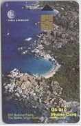 BRITISH VIRGIN ISLANDS - THE BATHS - BLACK CHIP - 13 DIGITS - Virgin Islands