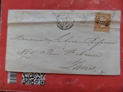 10.12.17_enveloppe   De  Paris Sur N°13,defaut. A Voir!! Nuance - Postmark Collection (Covers)