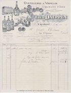 DISTILLERIE A VAPEUR - FRED.DAEPPEN - LAUSANNE - 1925 - MAGNIFIQUE FACTURE ILLUSTREE - V/IMAGE - Suisse