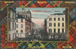 Argyle Street, Looking East, Glasgow, 1911 - Milton Glazette Postcard - Lanarkshire / Glasgow
