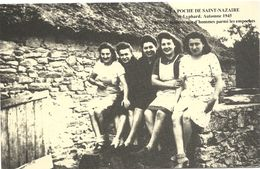 44 ST NAZAIRE 40 Ie ANNIV  POCHE ST NAZAIRE  ST LYPHARD  AUTOMNE 1945   PLUS DE FEMMES  QUE D HOMMES PARMIS LES EMPOCHES - Saint Nazaire