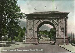 "137 - "" AOSTA - ARCO DI CESARE AUGUSTO (ANNO 24 A.C.) - ANIMATA"" - Aosta"