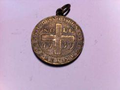 SUISSE - 1ER DIVISION SOUS LES ARMES - NOEL 1939 - ENV 28MM DE DIAMETRE - Médailles & Décorations