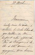 VP11.761 - Noblesse - LAS - Lettre De Mme La Marquise De TOCQUEVILLE THUISY à PARIS - Autographs