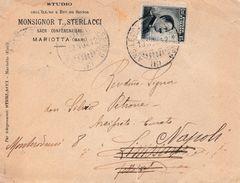 """R180 - Busta Del 1912 Da Mariotta (BA) A Limosano (CB) Con Cent. 15 Ardesia Annullo """"AMB.LECCE-ADRIATICO """" - 1900-44 Vittorio Emanuele III"""