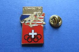 Pin's,Sport,LUTTE,WRESTLING,RINGEN,Atlanta 96 Suisse,JO,Olympique,Olympische Spiele,limité, - Wrestling