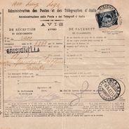 R182 - Avviso Di Ritorno Di Raccomandata Del 1917 Da Brisighella A Faenza Con Cent 20 Su 15 Ardesia (Michetti) - 1900-44 Vittorio Emanuele III
