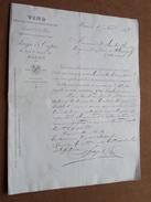 VINS Eaux-de-Vie De Marc FAYE & COPIE Mâcon ( à Desplantes Flavigny ) Anno 1888 ( Lettre / Fact : Voir Photo ) ! - France