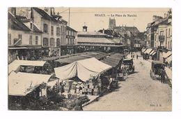 CPA 77 MEAUX La Place Du Marché - Meaux