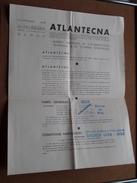 ATLANTECNA Bureau Marocain De Documentation Technique & De Tourisme Scientifique - Anno 1934/35 ( Voir Photo ) ! - Dépliants Touristiques
