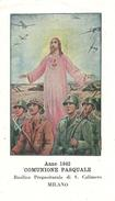 COMUNIONE PASQUALE - MILANO - BASILICA DI S. CALIMERO - 1942 - A - Mm. 70 X 122 - GUERRA - Religion & Esotérisme