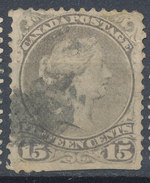 Stamps  Canada 1868 15c Large Used - 1851-1902 Règne De Victoria