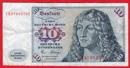 -- ZEHN DEUTSCHE MARK 10 DEUTSCHE BUNDESBANK - 1980 -- - [ 7] 1949-… : RFA - Rep. Fed. Tedesca