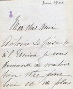 VP11.765 - Noblesse - LAS - Lettre De Mme La Comtesse De SALA - Autographs