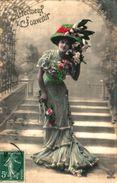 Femme 645 Belle Robe Chapeau à Plumes - Donne