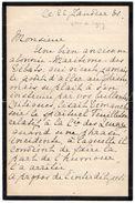 VP11.767 - Noblesse - LAS - Lettre De Mme La Comtesse De LUGNY à PARIS - Autographs