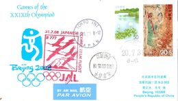 Vol Spécial JAL Tokyo Pékin - 30/07/08 - équipe Olympique Japonaise - Ete 2008: Pékin