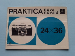 PRACTICA Nova & Nova B ( 24 X 36 ) Gebruiksaanwijzing Pentacon ( Voir Photo ) ! - Appareils Photo