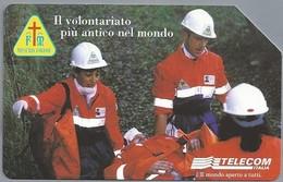 IT.- SCHEDA TELEFONICA. TELECOM ITALIA LIRE 10.000. € 5,16. LE MISERICORDIE. 1899 - 1999 . 2 Scans. - Italië