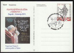 Croatia Zagreb 2011 / Philatelic Exhibition Way Of The Cross / Pope John Paul II, Graphite From Rijeka - Croacia