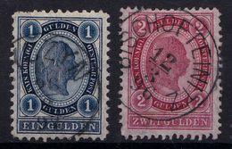 AUSTRIA / ÖSTERREICH - 1890 - 1 G & 2 G (Mi. 61 - 62) : LOT De 2 TIMBRES / BATCH Of 2 STAMPS (ab202) - 1850-1918 Empire