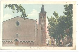 10dece2017 Cpa 66 Prades Eglise Et Place Ttb Colorisee - Prades