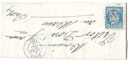 LETTRE   Avec N°60 ; 82 G1  2 ème état; TTB - 1871-1875 Cérès