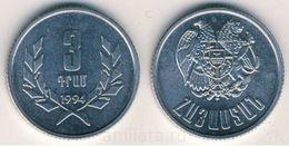 ARMENIA 3  Dram  1994 UNC  Bank Bag - Armenia