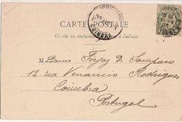 France &  Circulated, Porte Désilles Nancy, Coimbra Portugal 1903 (12) - Monuments