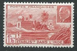 Inde Française -    Yvert N°  126 *     AH 24637 - India (1892-1954)