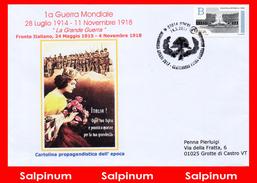 ANNULLO ANNIVERSARIO 100° PRIMA GUERRA MONDIALE - OZIERI - 6. 1946-.. República